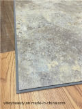 Étage imperméable à l'eau de marbre de cliquetis de vinyle de PVC