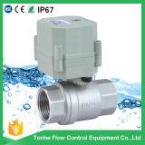 Soupape de commande électrique d'écoulement d'eau d'acier inoxydable de Dn25 AC230V