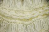 Le donne adattano la maglietta di Chiffion modellata Crochet allentato