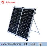 Portable que dobra jogos do painel solar para acampar