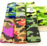 Porte-cigarettes imperméable à l'eau de silicones de modèle de cadre du cuboïde 150W/caisse colorée de peau/chemise/protecteur/enveloppe/étiquette