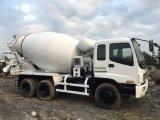 大きさ出荷6*4-LHD/Rhd-Drive日本6~8cbm/10~20tonの新しペンキ元エンジンのIsuzuの具体的なミキサーのトラック