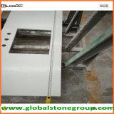 Parte superiore bianca di vanità del quarzo per la stanza da bagno di pietra/architetto arredatore