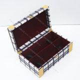 Boîte merveilleuse à boissons de cadeau/papier de vin avec le cuir et le Flannelette