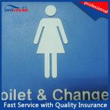 Silberne Blindenschrift Signs mit australischem Standard für Toilet/Shower Raum