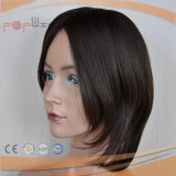 Peluca revestida llena de las mujeres de la PU del pelo humano