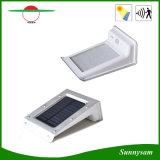 Éclairages extérieurs des lampes DEL de mur de la lumière 16LED de jardin de lumière de mouvement de détecteur de degré de sécurité de lumière solaire solaire imperméable à l'eau de nuit
