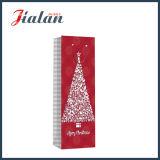 Saco de papel laminado lustroso do presente da compra do frasco do Natal do papel de arte