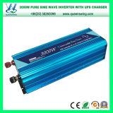 inversor puro azul da potência de onda do seno 3000W com carregador do UPS e porta do USB (QW-PJ3000UPS)