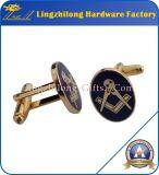 Mancuerna del oro de la joyería del Mens de la casa de campo del Freemason