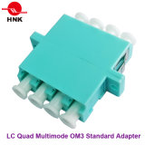 LC Quad Singlemode、Multimode、Om3およびAPC Fiber Optic Adapter