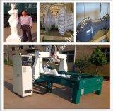 Máquina de moldagem de escultura de móveis de madeira / pedra / espuma 3D / máquina de fresar CNC de 4 eixos