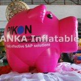 Sfera gonfiabile dell'aerostato di figura del maiale di colore rosa della scatola di parata