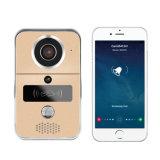 el teléfono video casero elegante de la puerta de 720p WiFi, teléfono video sin hilos de la puerta 2.4G con la tarjeta de Rftd, radio abre, timbre de WiFi