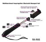 De múltiples funciones Encajar a presión-Junto el juego Rk908 (OM-RK908) de Bluetooth Monopod