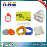 Logotipo personalizado dos Wristbands de ISO14443A NFC RFID silicone Rewritable