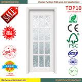 Porte intérieure en bois Roumanie de porte coulissante de porte en bois en verre