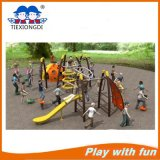 Kids Outside Play 땅 Gym Equipments Toy를 위한 Rock Climbing Wall를 가진 옥외 Playground Children Fitness Equipment