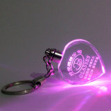 Cuore Shape Crystal Keychain, LED Light Glass Keychain per Gifts