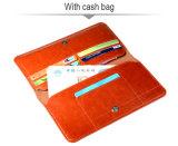 Caisse mobile de pochette de téléphone d'accessoires de couleur de fantaisie de Brown pour des smartphones universels