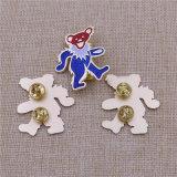 주문 금속 곰 모양 반짝임 상징 휘장 접어젖힌 옷깃 Pin 반짝임 기장