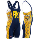 Cheap Sublimated Custom Made Wrestling Singlet à vendre