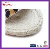 Sandali di lana della femmina delle scarpe di tela del leopardo