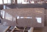 Parte superiore beige di vanità del granito, controsoffitto del granito