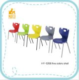 Metal Student Chair con Colorful Plastic PP Shell