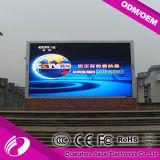 P10 LED al aire libre a todo color que hace publicidad de la pantalla