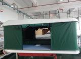 Barraca solar da parte superior do telhado do escudo duro da fibra de vidro com projeto da manivela