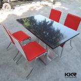 Kkr Branco acrílico sólido superfície do restaurante mesas de jantar (KKR-T1408053)