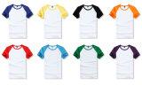 2016년 OEM 여름 도매 평야 면 간결 소매 사춘기 Raglan t-셔츠