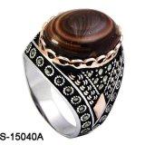 Nieuwe Model Echte Zilveren Ring 925 met Natuurlijk Agaat
