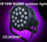 Het concurrerende OpenluchtLicht 18PCS van de Prijs 4in1 RGBW