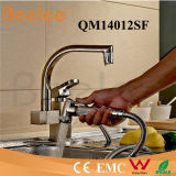 Cuisine Faucet DEL Rotatable Two Heads et Handles Sink Pull out Colored Kitchen Faucet