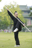 Vêtement de toile épais à haute teneur de ressort de Chi de Tai de Taoism et de collier de stand d'automne