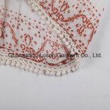標準的な方法純粋なカラー女性3/4枚の袖のブラウス