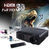 USB portátil do diodo emissor de luz SD HDMI avoirdupois dos lúmens HD 1080P 3D do projetor 4000 do teatro Home
