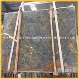 壁の背景のための自然で青か緑または赤いオニックス大理石の平板