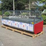 CE del congelador de la visualización de 220V/60Hz Gelato