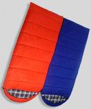 파란과 주황색 정교한 기술 구렁 면 슬리핑백
