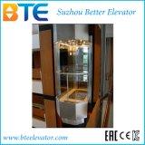 Elevatore panoramico di buona vista del Ce 1250kg con la stanza della macchina
