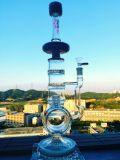 GroßhandelsHb-K46 16inch 40diameter 5thickness doppelter Inline-Recycler-Stereomatrix-Filtrierapparat-rauchendes Wasser-Glasrohr
