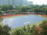 Cour de handball extérieure poreuse parquetant la cour de handball tous temps d'utilisation et d'arrière-cour