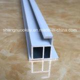 Profil creux en aluminium de qualité d'approvisionnement pour glisser des portes de garde-robe