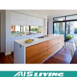 Mobília moderna dos gabinetes de cozinha da placa simples da melamina (AIS-K120)