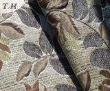 Tela del telar jacquar del Chenille del modelo de la hoja en tierra baja especial