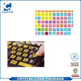 El precio favorable imprimió la escritura de la etiqueta de la etiqueta engomada del teclado