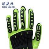 Gants mécaniques de Sandy d'anti paume de vibration avec des gants de choc de TPR